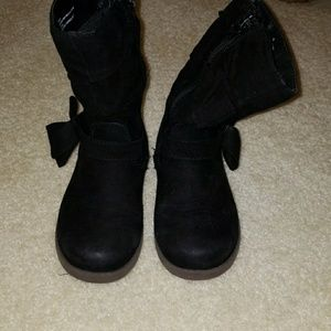 Other - Black winter suede boots